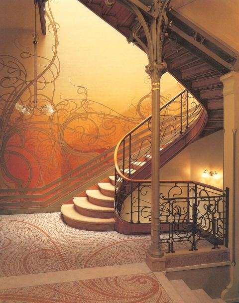 A staircase in Musee Horta (via design2share.com)